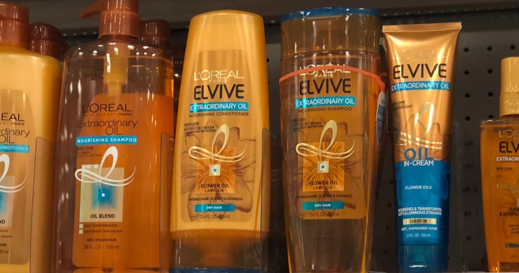 L'Oreal Hair Care Products on store shelf