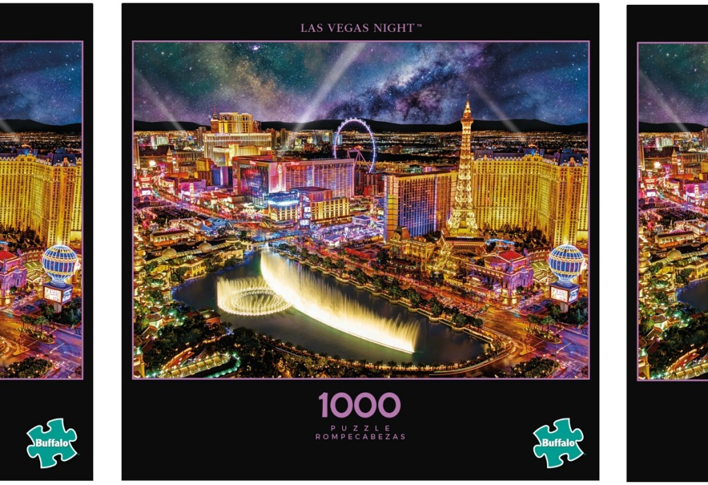Large box of a Las Vegas-themed puzzle