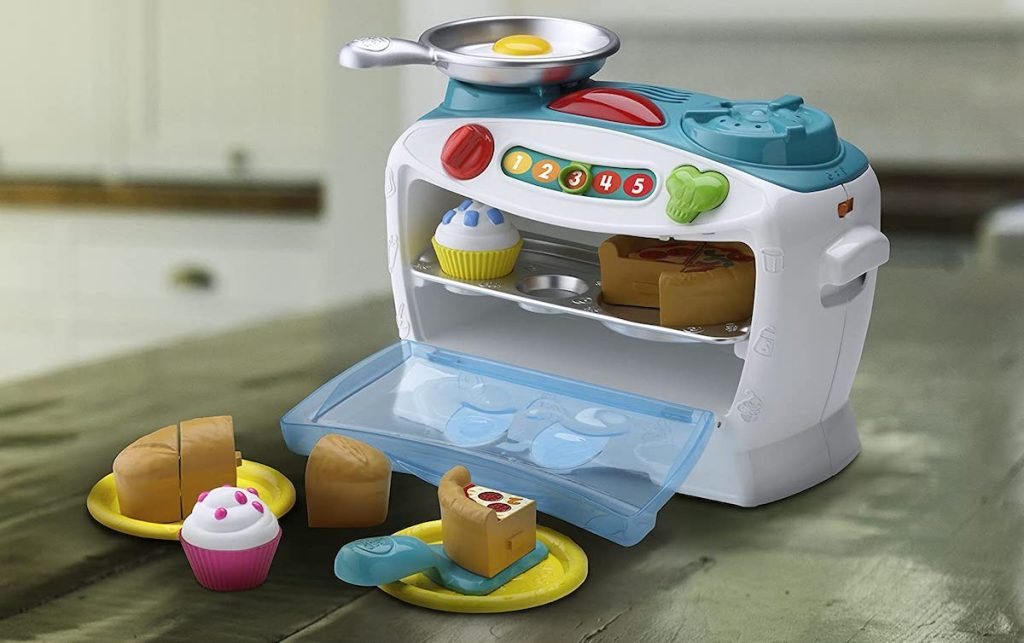 LeapFrog Number Lovin' Oven on counter with food in oven and counter
