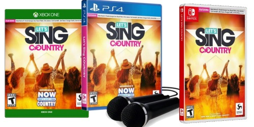 Let's Sing Country Game Just $4.99 on GameStop (Regularly $10) | Nintendo Switch, Xbox One, or PS4