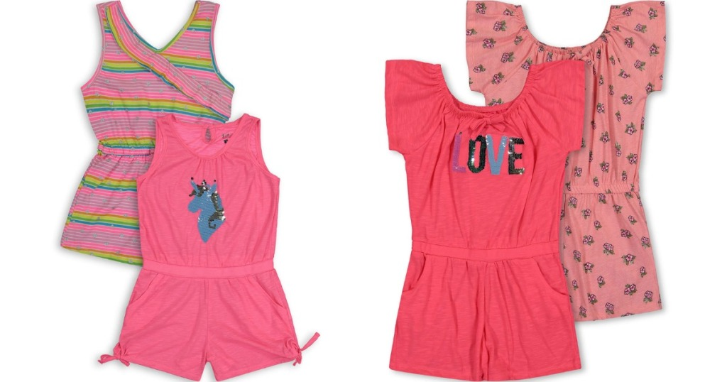 four Limited Too Rompers