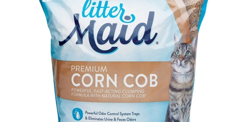 Two LitterMaid Premium Corn Cob Litter 9-Pound Bags Only $10.78 Shipped on Amazon | Just $5.39 Each