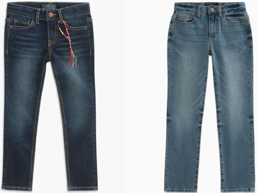 two pairs of kids jeans