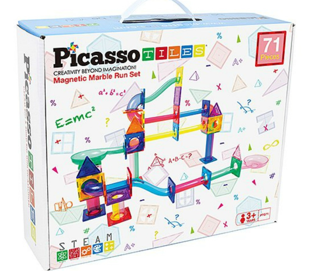 Marble Run 71-Piece Magnetic Building Blocks PicassoTiles box