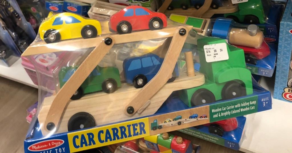 Melissa & Doug Car Carrier Wooden Toy Set (1)