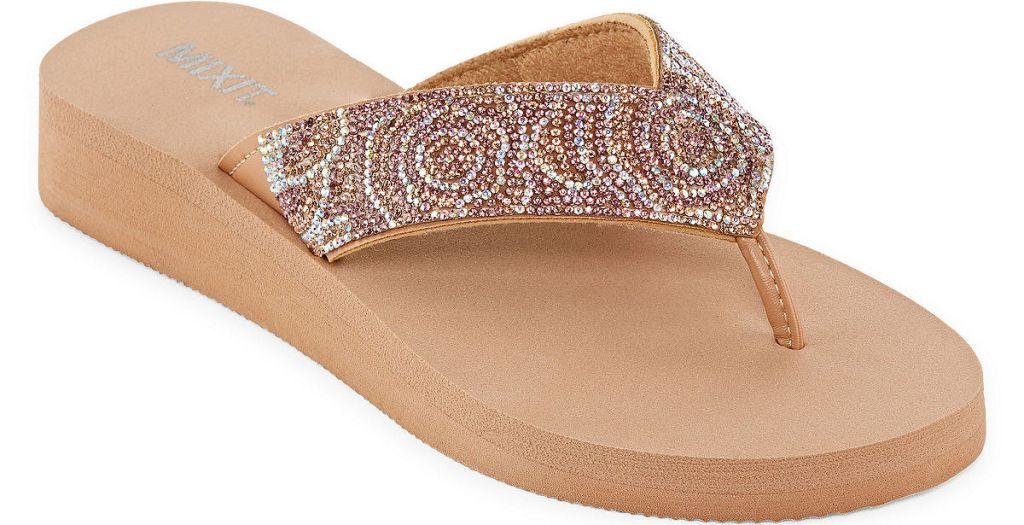 sandal with rhinestones