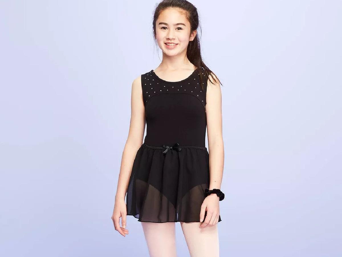 girl wearing black More than Magic Girls Activewear Skirts