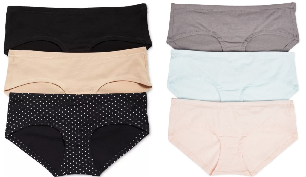 6 pairs of maternity panties