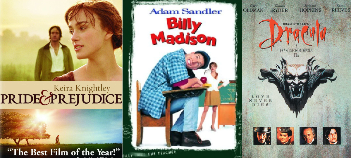 three movie covers