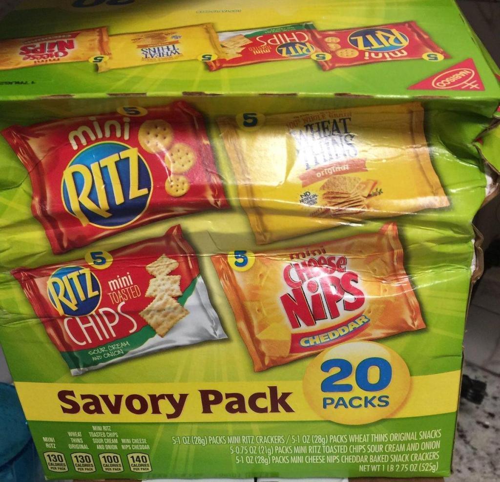 box of nabisco savory pack