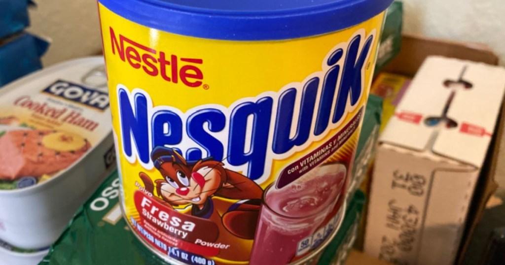 container of Nesquik