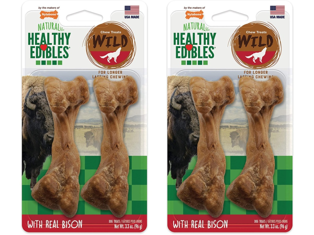 two packs of dog chew toys