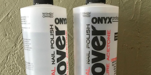 TWO ONYX Professional 100% Acetone Polish Removers & Nail File Only $4.96 on Amazon
