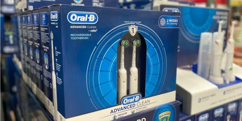 Oral-B Rechargeable Toothbrush 2-Pack Only $49.99 After Rebate at Costco (Regularly $100)