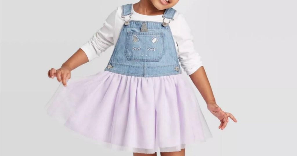 girl wearing Osh Kosh B'Gosh Skirtall