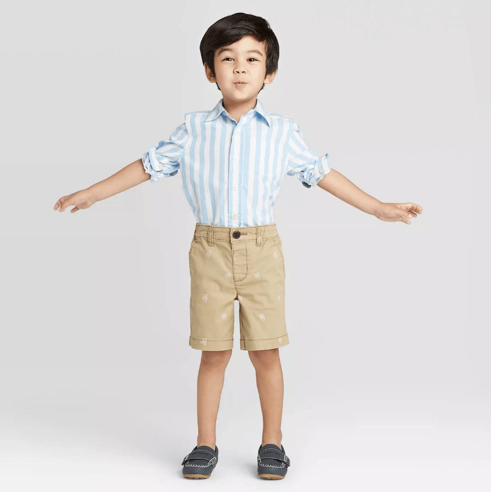 boy wearing OshKosh Button-Down Shirts