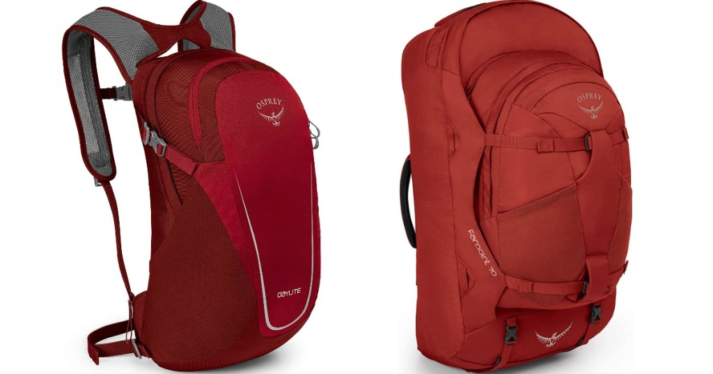 two red backpacks