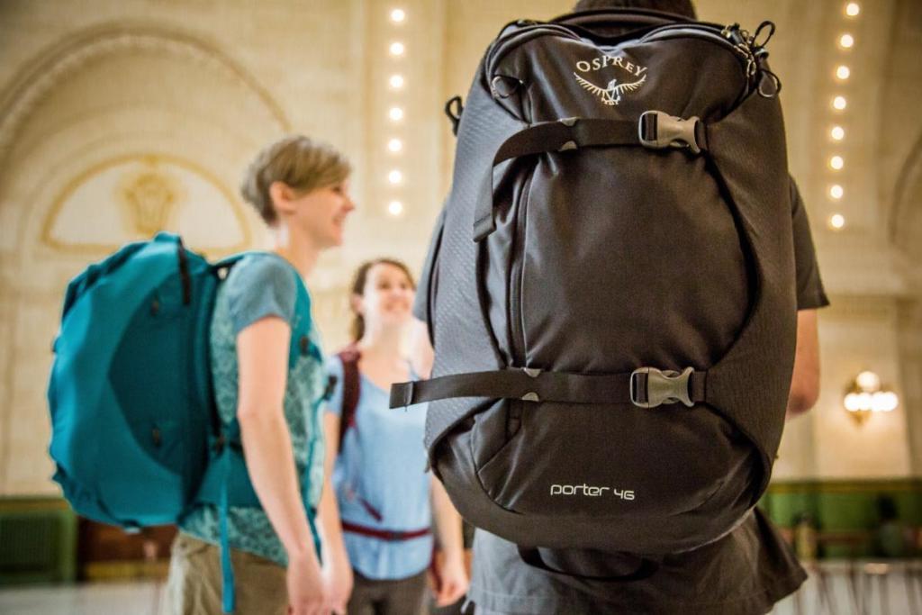 people wearing Osprey backpacks