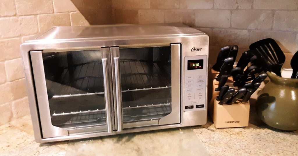 Oster French Convection Countertop & Toaster Oven on kitchen countertop