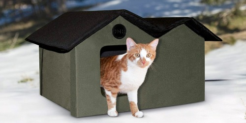 Water-Resistant Heated Cat House Just $46.98 Shipped on Amazon (Regularly $76)