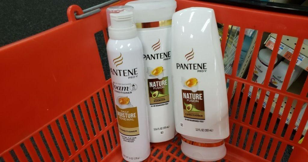 tiga produk Pantene dalam keranjang CVS