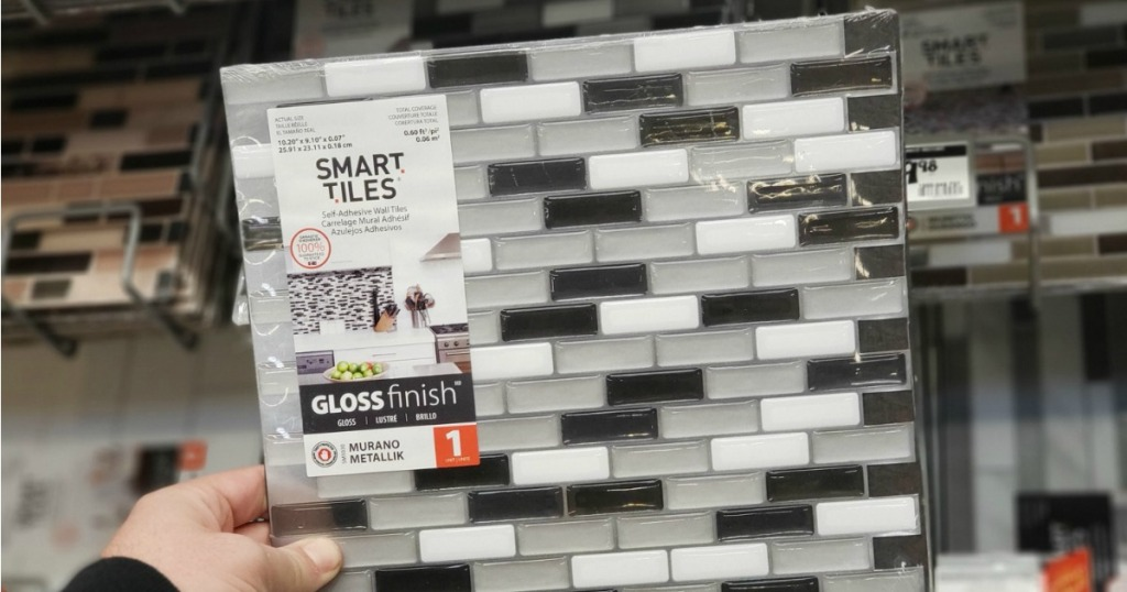 Peel Stick tiles from Home Depot