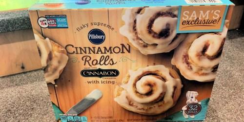 Pillsbury Cinnabon Cinnamon Rolls w/ Icing 32-Count Box Just $4.78 at Sam's Club