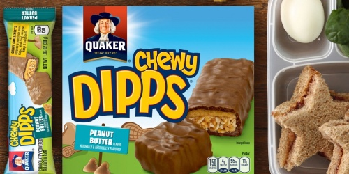 Quaker Chewy Dipps Granola Bars 14-Count Only $3.49 on Amazon | Just 20¢ Each