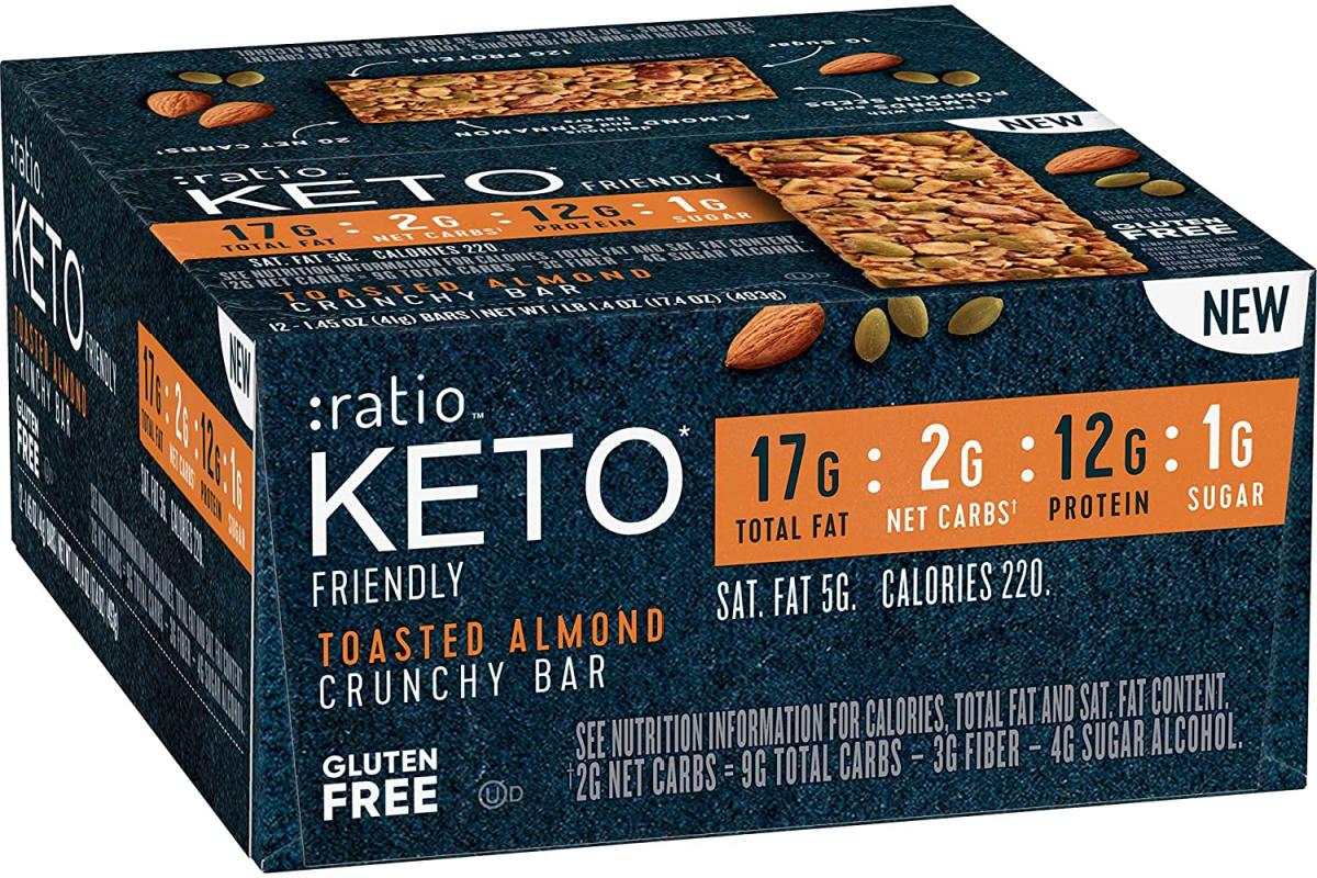 ratio KETO toasted almond crunchy bar