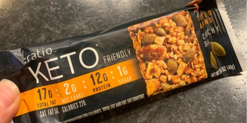 Ratio KETO Friendly Protein Bars 12-Pack Only $19.43 Shipped on Amazon (Regularly $30)