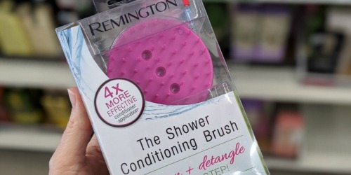 Readers Are Loving This Remington Shower Conditioning Brush from Dollar Tree