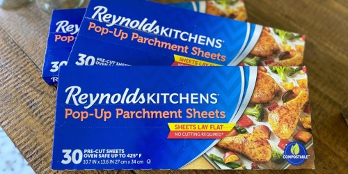 Reynolds Pop-Up Parchment Sheets 30-Count Box Just $2.83 Shipped on Amazon (Regularly $5)