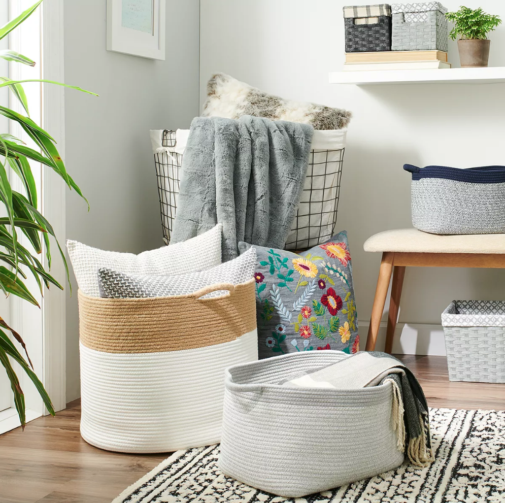 Rope Bins and Wire Baskets from Kohl's