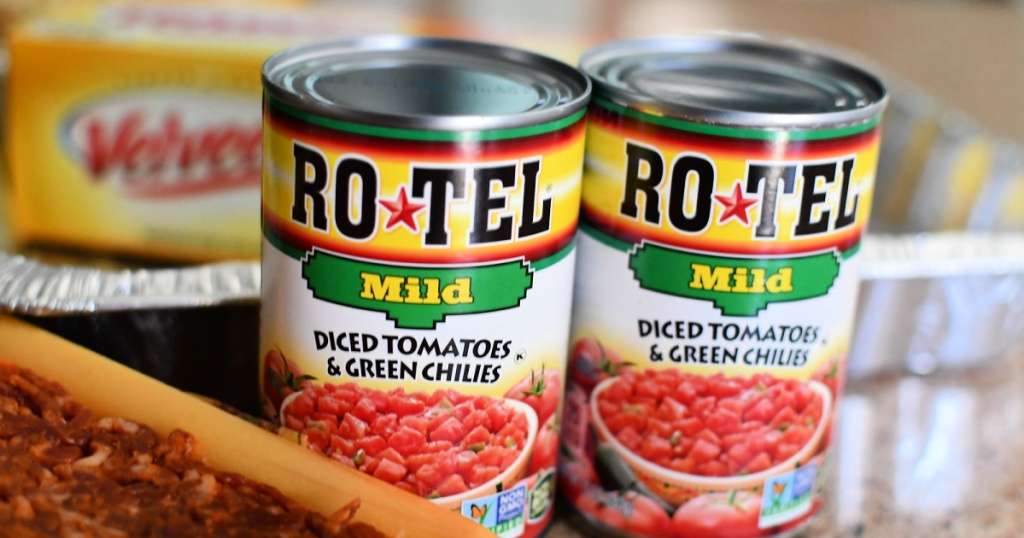 Rotel Mild Diced Tomatoes and green chilis