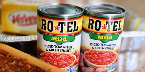 Rotel Diced Tomatoes & Green Chilies Cans 12-Pack Only $8.82 Shipped on Amazon