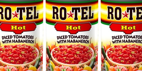 Rotel Diced Tomatoes & Habaneros Cans 12-Pack Only $10 on Amazon (Perfect for Soups, Queso & More!)