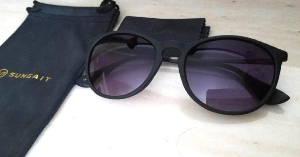 SUNGAIT Sunglasses NEXT TO CASE