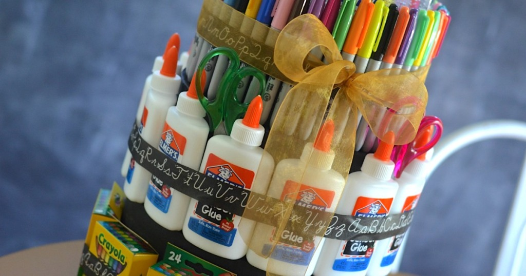 "DIY School Supply ""cake"""