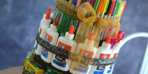 "DIY School Supply ""Cake"" (Back to School Gift Idea)"
