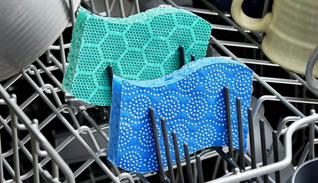 Scotch-Brite Dots sponges in dishwasher