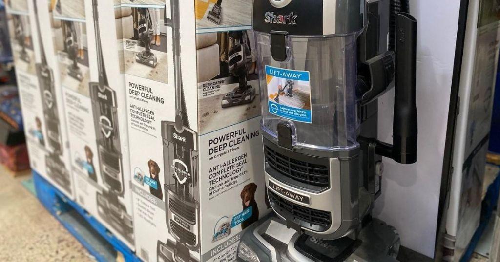 shark lift vacuums on display at store
