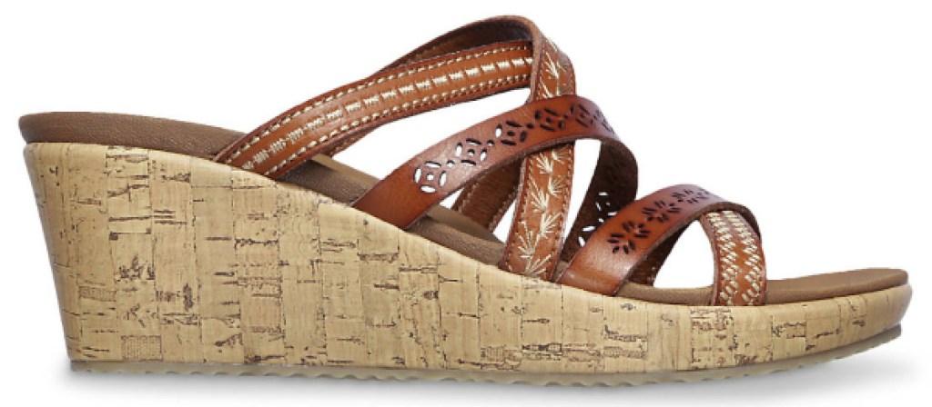 Skechers Cali Beverlee Tiger Posse Wedge Sandals