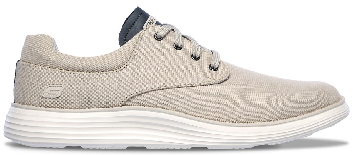 stock image of bone gray sneakers with laces