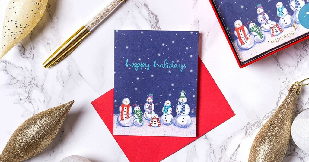2020 Boxed Christmas Cards Papyrus 20 Count Boxed Christmas Cards from $2.94 on Amazon