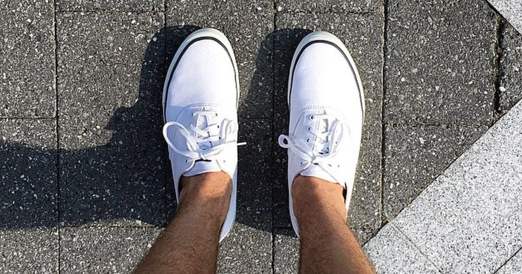 white pair of Sperry Cloud CVO Deck Sneakers