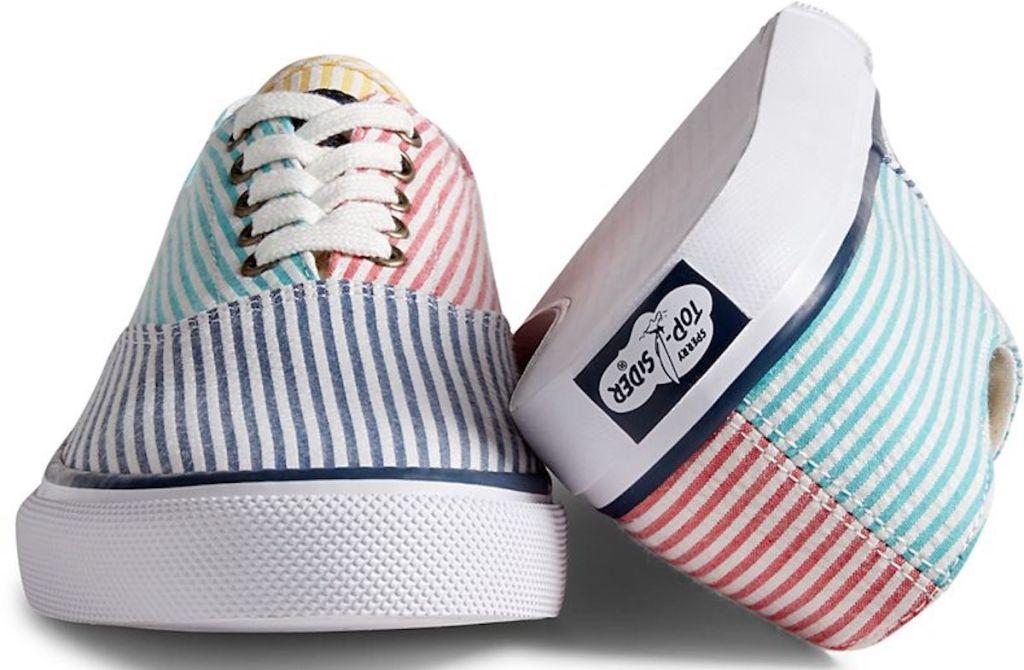 colorful Sperry Unisex Cloud CVO Seersucker Deck Sneaker