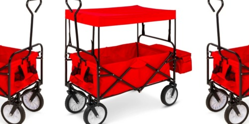 Folding Utility Wagon Cart w/ Canopy Only $69.99 Shipped (Quick Folding Design & Easy Storage!)