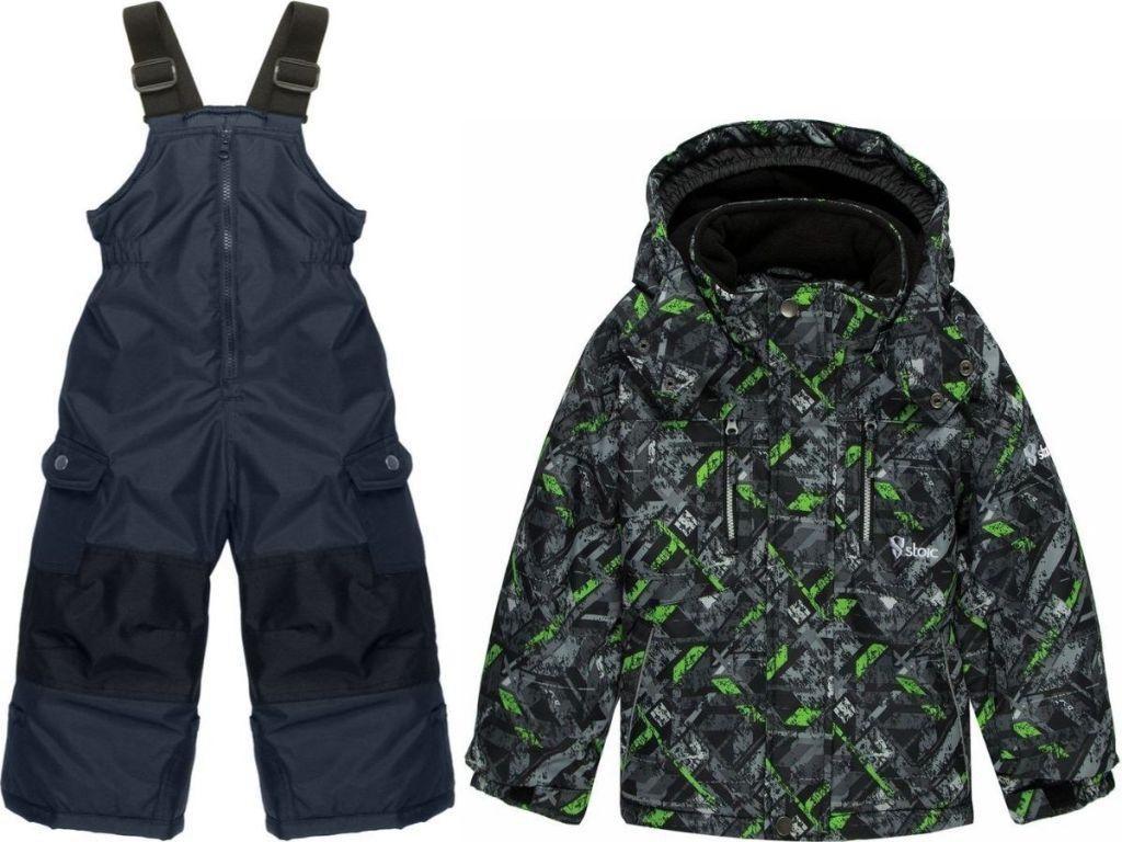 boys snow bib and winter jacket