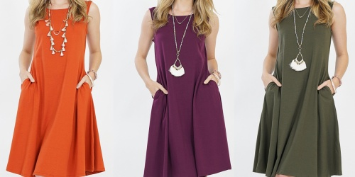 Women's Swing Dress w/ Pockets Only $9.99 on Zulily | Plus Sizes Included
