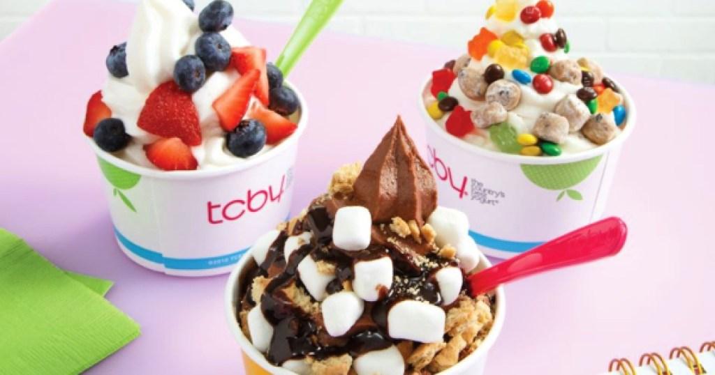 TCBY yogurt in cups